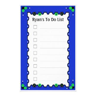 リストをするため 便箋