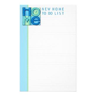 リストをする新しい家 便箋