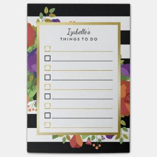 リストをする美しい秋の花束の名前をカスタムする ポストイット