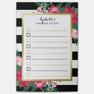 リストをする美しい12月の花束の名前をカスタムする ポストイット