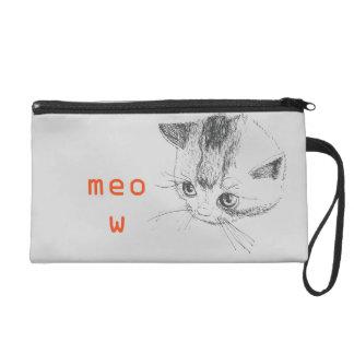 リストレット猫のスケッチの猫の鳴き声のバッグ リストレット
