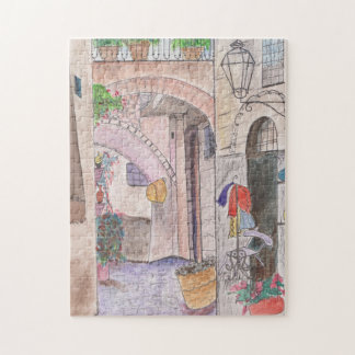 リスボンのギフト用の箱の通りが付いている11x14写真のパズル ジグソーパズル