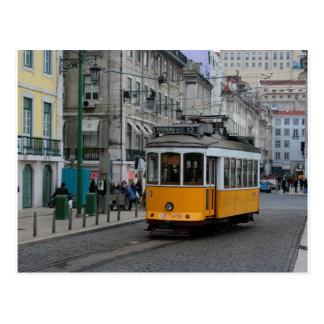 リスボンの市街電車ポルトガルTranvias deリスボン ポストカード
