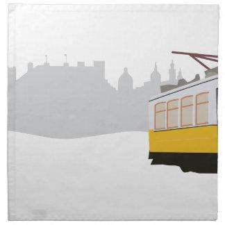リスボンの市街電車 ナプキンクロス