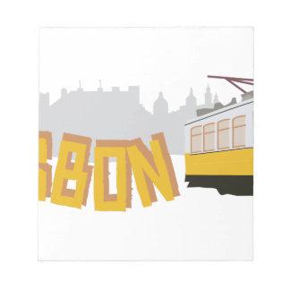 リスボンの市街電車 ノートパッド