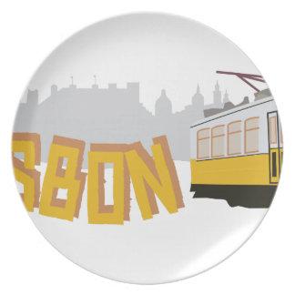 リスボンの市街電車 パーティー皿