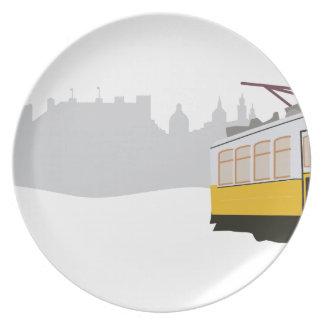リスボンの市街電車 皿
