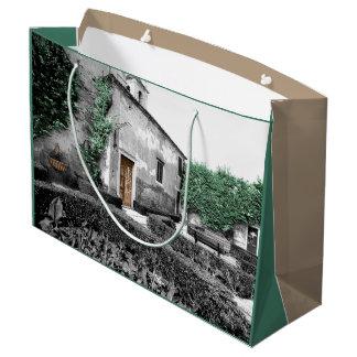 リスボンの庭(ぼろぼろのシックな都市) ラージペーパーバッグ