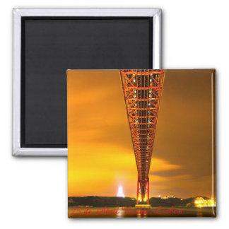 リスボンの25 de Abril Bridge 2インチの正方形の磁石 マグネット