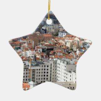 リスボン都市スカイライン セラミックオーナメント