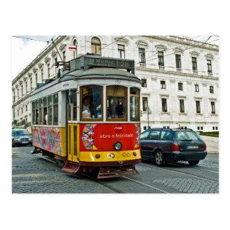 リスボン、ポルトガルの市街電車 ポストカード