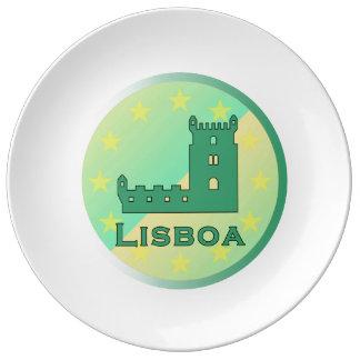 リスボン 磁器製 皿