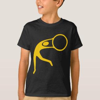 リズミカルな体操の姿-こはく色 Tシャツ