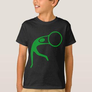 リズミカルな体操の姿-草色 Tシャツ