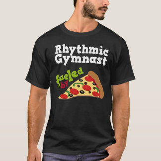 リズミカルな体育専門家(おもしろいな)ピザTシャツ Tシャツ