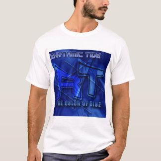 リズミカルな潮-青Tシャツの色 Tシャツ
