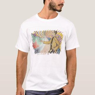 リズミカルな背景のエナメルに対して Tシャツ