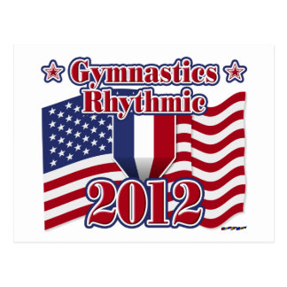 リズミカルな2012年の体操 ポストカード