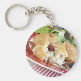 リゾットおよびモツァレラの前菜Keychain キーホルダー