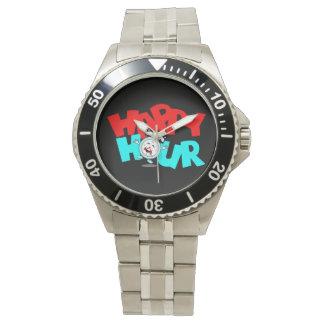 リゾートの休暇の腕時計の楽しい時間のおもしろい及びよくはしゃぐ 腕時計
