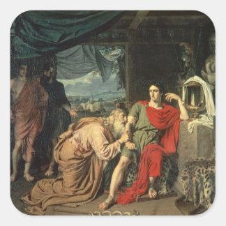 リターンのためにアキレスをの頼んでいるPriam王 スクエアシール