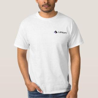 リチウム小型のロゴ Tシャツ