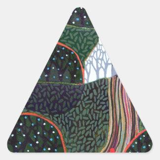 リチャードの友人による元の絵画からのイメージ 三角形シール