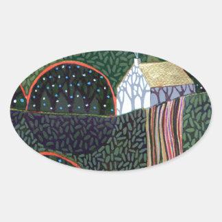 リチャードの友人による元の絵画からのイメージ 楕円形シール