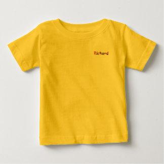 リチャードの黄色いベビーの罰金のジャージーのTシャツ ベビーTシャツ