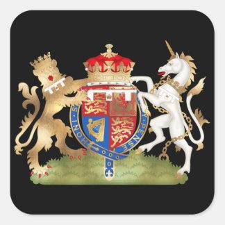 リチャードまたはのどの金ゴールドライオンのハートの紋章付き外衣 スクエアシール