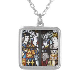 リチャード三世およびアンイギリスの女王 シルバープレートネックレス