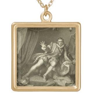 リチャード三世の行為V ScenとしてデイヴィッドGarrick (1717-79年) ゴールドプレートネックレス