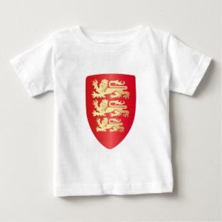 リチャード赤のライオンのハートの盾+模造のな金ゴールド ベビーTシャツ