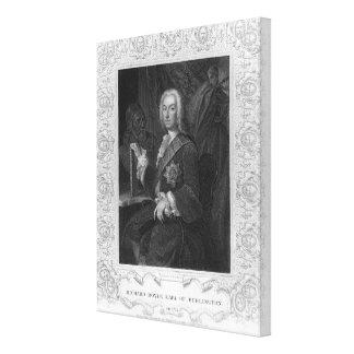 リチャードBoyleのバーリントンの伯爵のポートレート キャンバスプリント