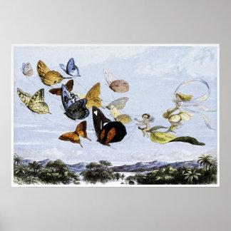 リチャードDoyle 1870年著妖精のプリント ポスター