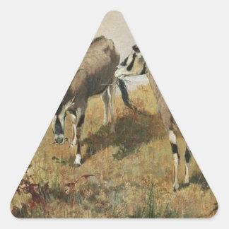 リチャードFriese著Zwei Antilopen 三角形シール