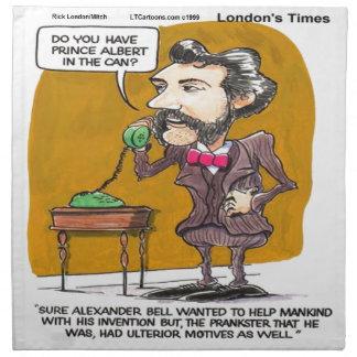 リックロンドンおもしろいなアレキサンダー鐘の電話悪ふざけ ナプキンクロス