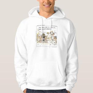 リックLond著有史以前の社会的な媒体のおもしろいなフード付きスウェットシャツ パーカ