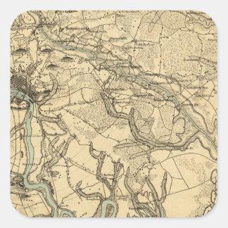 リッチモンドおよびPetersburghのヒューズの軍の地図 スクエアシール