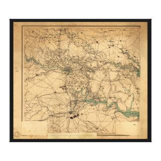 リッチモンドおよびPetersburgh (1864年)の内戦の地図 キャンバスプリント