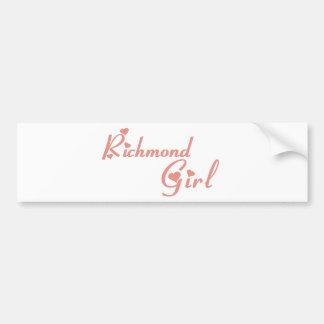 リッチモンドの丘の女の子 バンパーステッカー