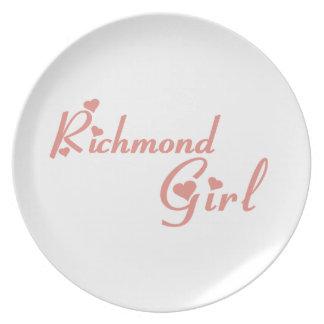 リッチモンドの丘の女の子 プレート