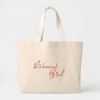 リッチモンドの丘の女の子 ラージトートバッグ