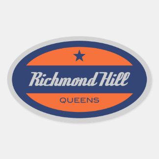 リッチモンドの丘 楕円形シール