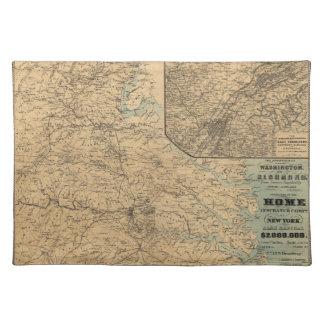 リッチモンドの内戦の地図(1864年)へのワシントン州 ランチョンマット