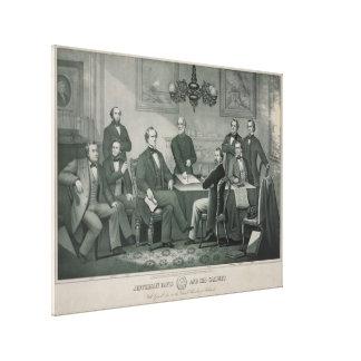 リッチモンドの国会議事堂のジェファーソン・デイヴィスそしてキャビネット キャンバスプリント