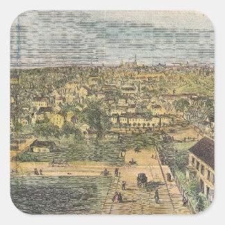 リッチモンドヴァージニア(1862年)のヴィンテージの絵解き地図 スクエアシール