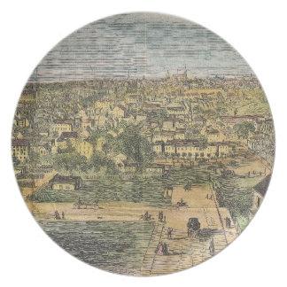 リッチモンドヴァージニア(1862年)のヴィンテージの絵解き地図 プレート