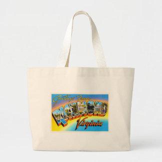 リッチモンドヴァージニアVAの古いヴィンテージ旅行郵便はがき ラージトートバッグ