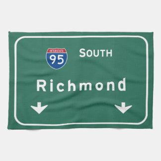 リッチモンドヴァージニアVAの州間幹線道路の高速道路: キッチンタオル